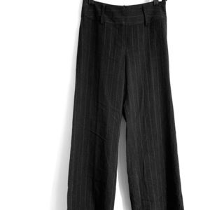 H&M Woman's Gray & White Pin Stripe Pants Size 6